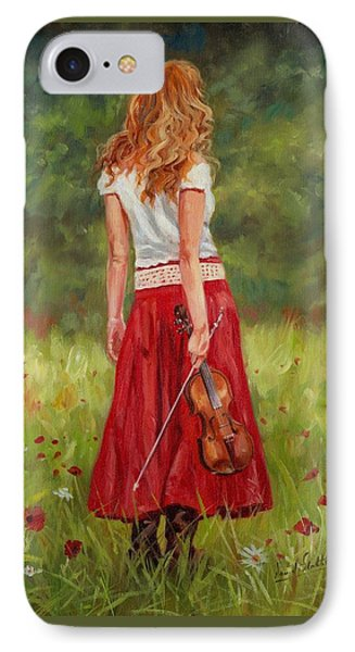 Music iPhone 8 Case - The Violinist by David Stribbling