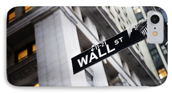 The Wall Street Street Sign IPhone Case