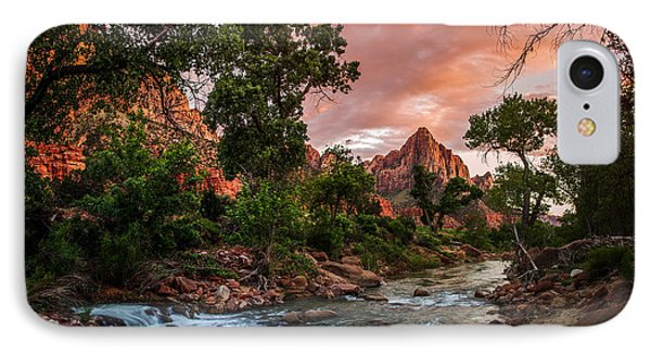 The Watchman Sunset Zion National Park IPhone Case