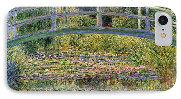 Impressionism iPhone 8 Case - The Waterlily Pond With The Japanese Bridge by Claude Monet