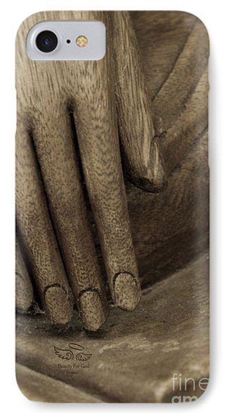 The Wooden Hand Of Peace IPhone Case