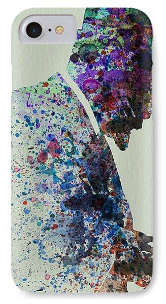 Saxophone iPhone 8 Case - Thelonious Monk Watercolor 1 by Naxart Studio