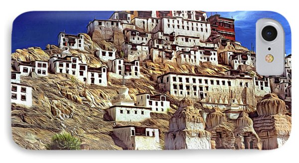 Thiksey Monastery - Paint IPhone Case