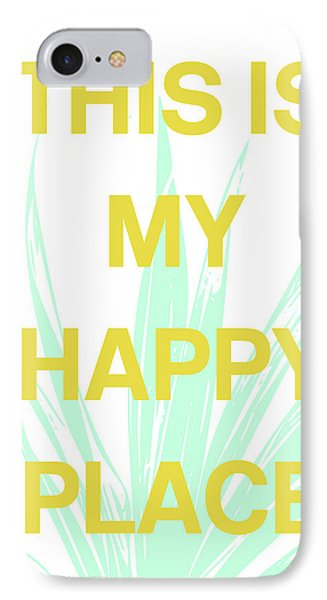 Mustard iPhone 8 Case - This Is My Happy Place- Art By Linda Woods by Linda Woods