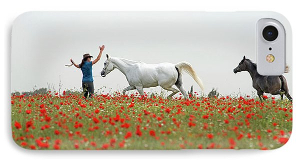 Three At The Poppies' Field IPhone Case