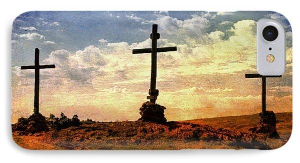 Three Crosses IPhone Case