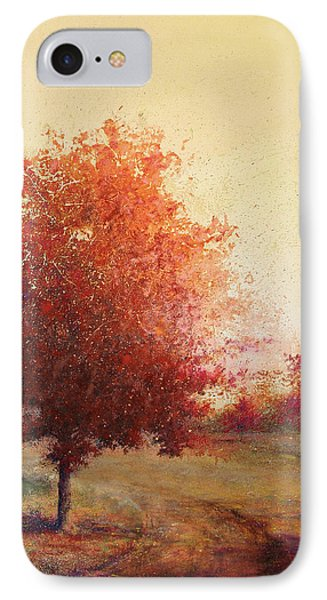 Three Red Trees IPhone Case