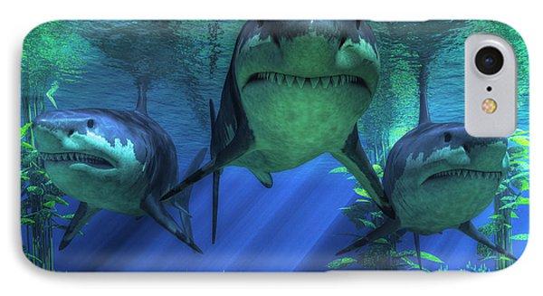 Three Sharks IPhone Case