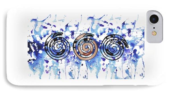 Three Spirals IPhone Case