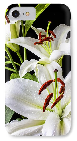 Three White Lilies IPhone Case