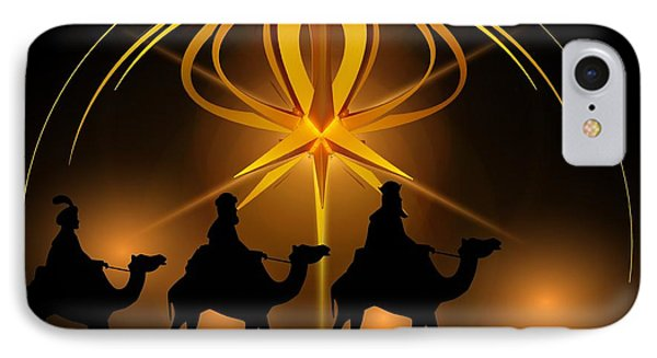 Three Wise Men Christmas Card IPhone Case
