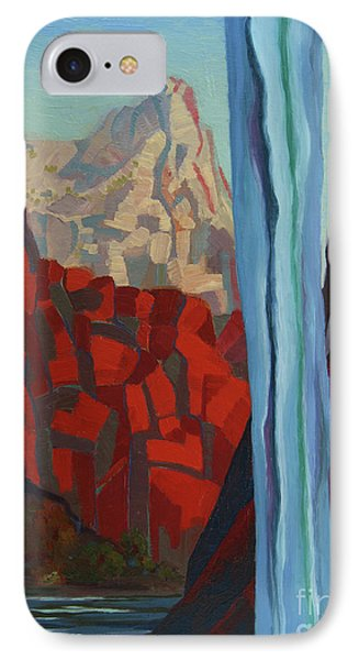 IPhone Case featuring the painting Through The Narrows, Zion by Erin Fickert-Rowland