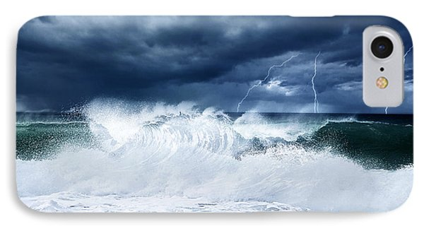 Thunderstorm And Lightning On The Beach IPhone Case