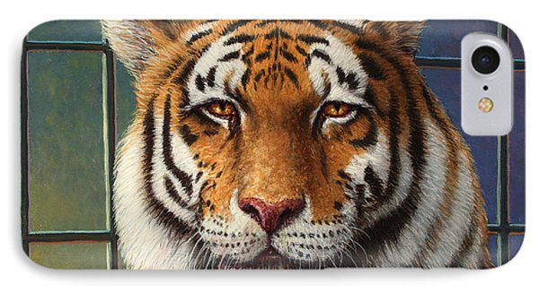 Africa iPhone 8 Case - Tiger In Trouble by James W Johnson