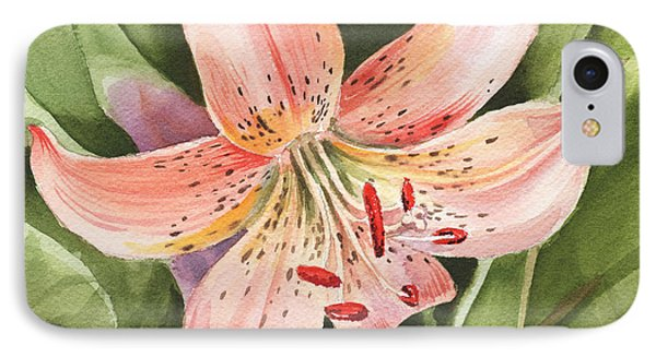 Lily iPhone 8 Case - Tiger Lily Watercolor By Irina Sztukowski by Irina Sztukowski