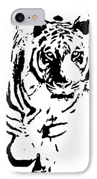 Tiger Walking Here IPhone Case