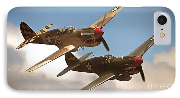 Tigers On The Prowl P-40 Warhawks IPhone Case