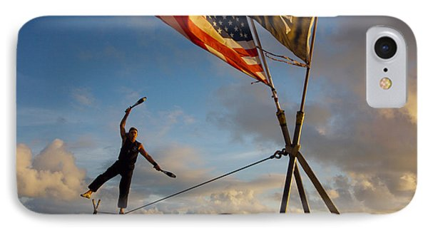 Tight Rope Walker In Key West IPhone Case