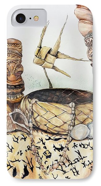 Tiki Still Life 1 IPhone Case