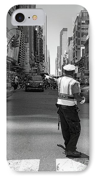 Times Square, New York City  -27854-bw IPhone Case