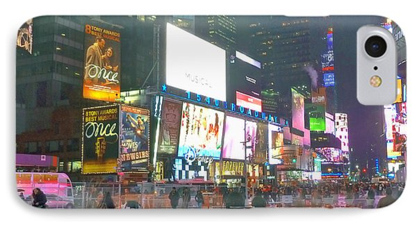 Times Square Red Rain IPhone Case