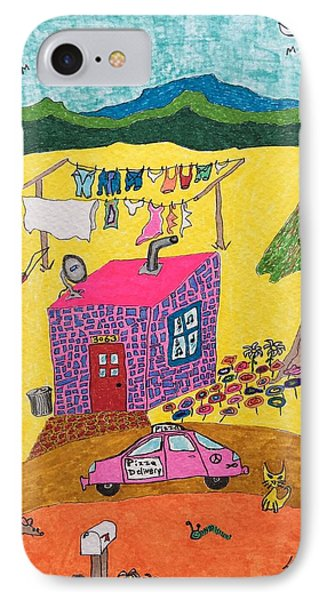 Tiny House With Clothesline IPhone Case