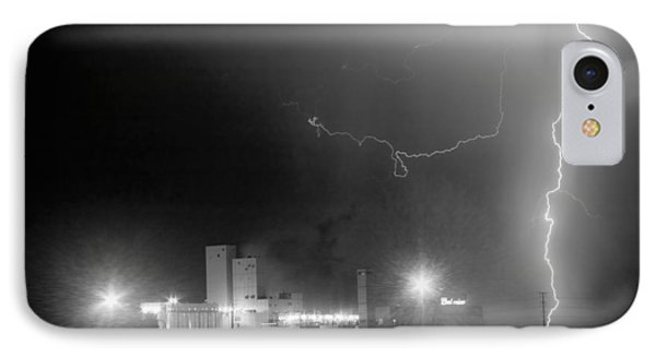 To The Right Budweiser Lightning Strike Bw IPhone Case