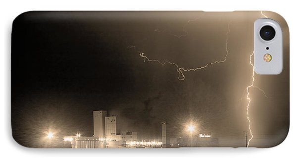 To The Right Budweiser Lightning Strike Sepia  IPhone Case