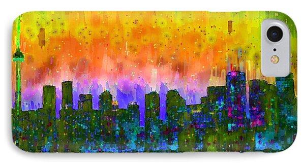 Toronto Skyline 12 - Pa IPhone Case