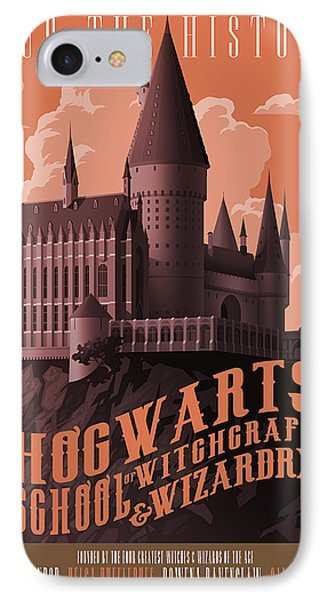 Wizard iPhone 8 Case - Tour Hogwarts Castle by Christopher Ables