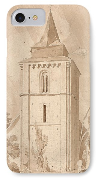 Tower Of The Village Church Of Saint Maclou, Normandy IPhone Case