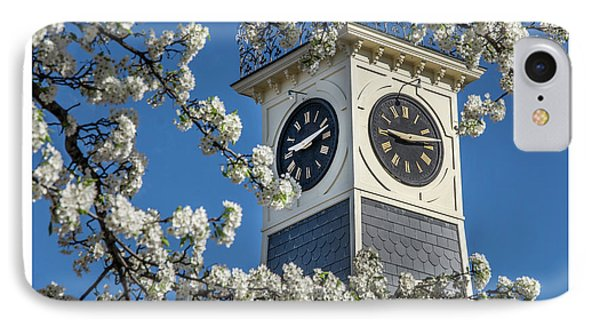 Town Clock In Spring IPhone Case
