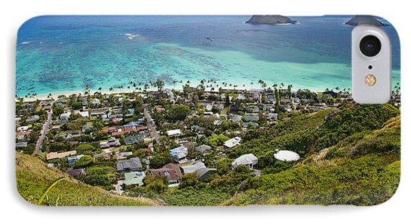 Beauty In Nature iPhone 8 Case - Town Of Kailua With Mokulua Islands by Inti St. Clair