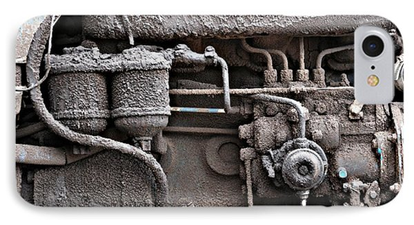 IPhone Case featuring the photograph Tractor Engine II by Stephen Mitchell
