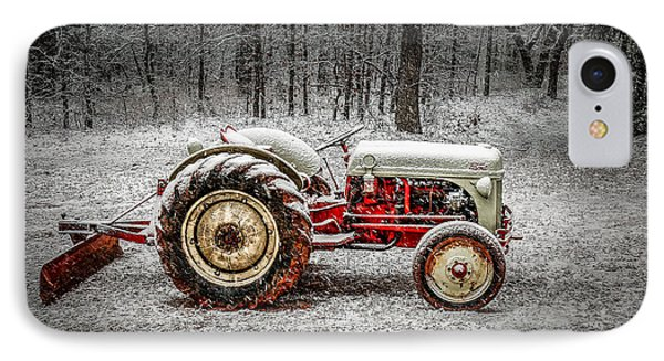 Tractor In The Snow IPhone Case