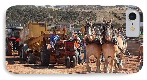 Tractors And Draft Horses Pulling IPhone Case
