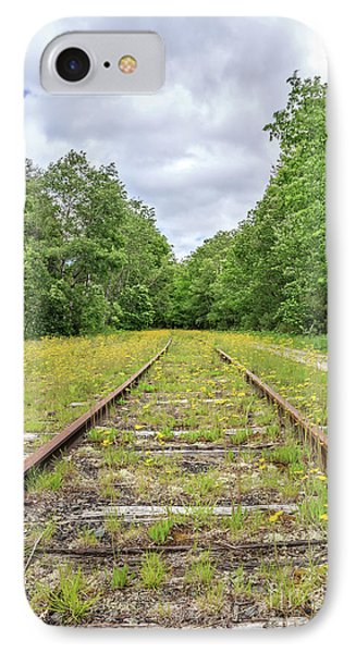 Train Tracks And Wildflowers IPhone Case