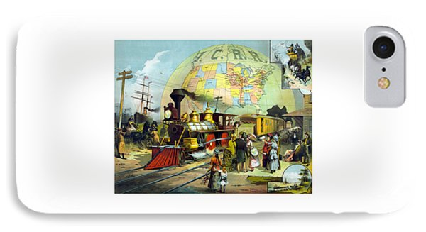 Train iPhone 8 Case - Transcontinental Railroad by War Is Hell Store