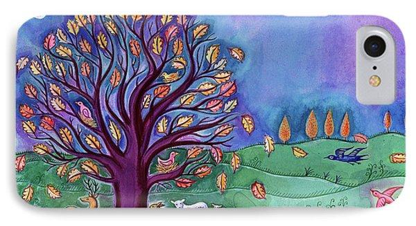 Tree In Autumn IPhone Case