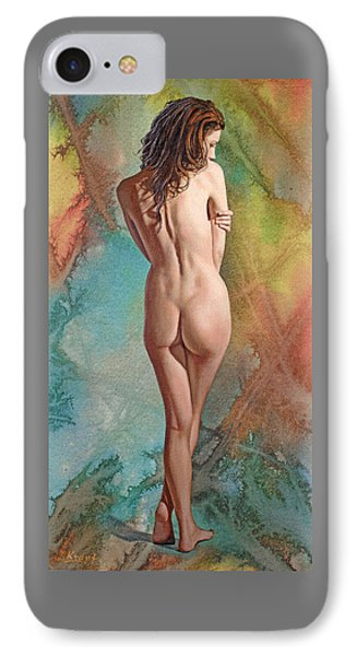 Nudes iPhone 8 Case - Trisha - Back View by Paul Krapf