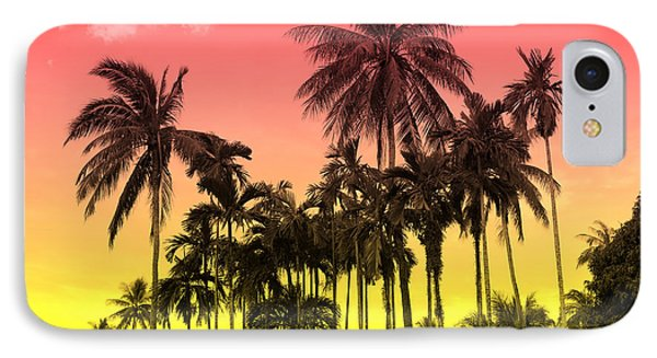 Sky iPhone 8 Case - Tropical 9 by Mark Ashkenazi