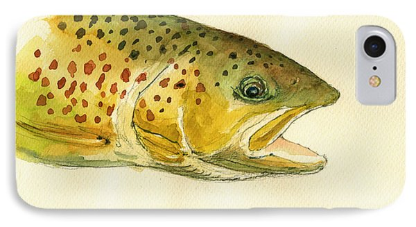 Trout Watercolor Painting IPhone Case