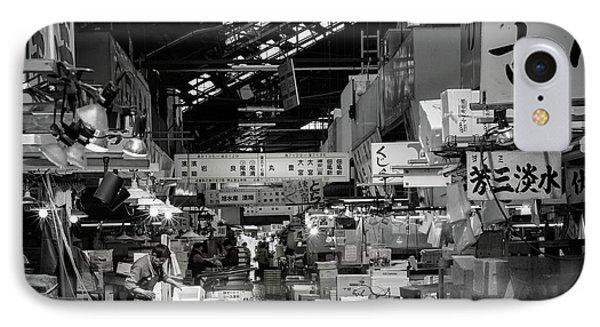 Tsukiji Shijo, Tokyo Fish Market, Japan IPhone Case