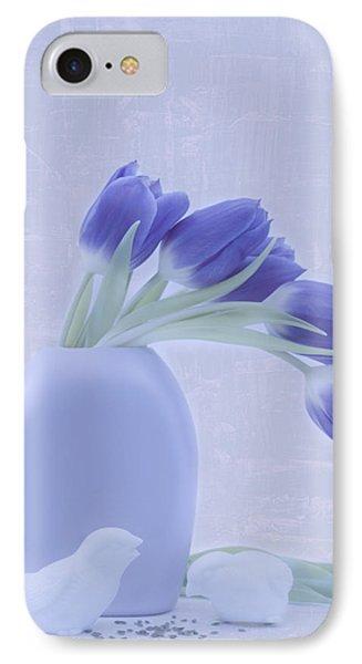 Tulips And Birdies  IPhone Case