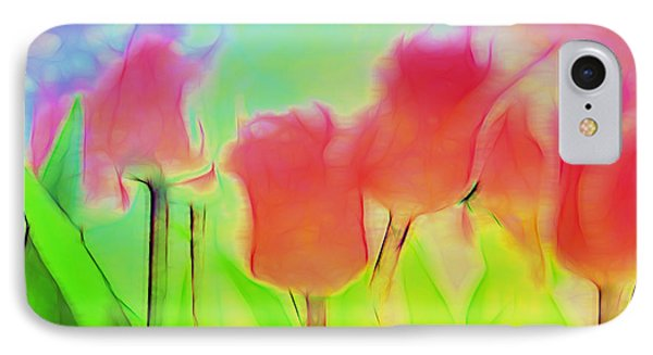 Tulips In Abstract 2 IPhone Case