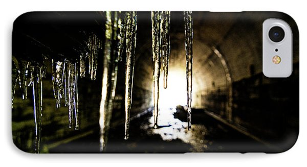 Dungeon iPhone 8 Case - Tunnel Icicles by Pelo Blanco Photo