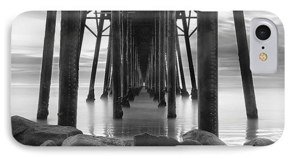 Tunnel Of Light - Black And White IPhone Case
