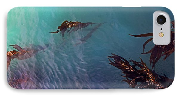 Turquoise Current And Seaweed IPhone Case