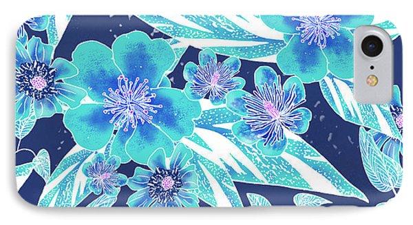 Turquoise Batik Tile 2 - Bidens IPhone Case