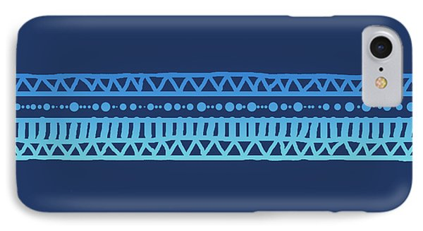 Turquoise Batik Tribal Stripe IPhone Case